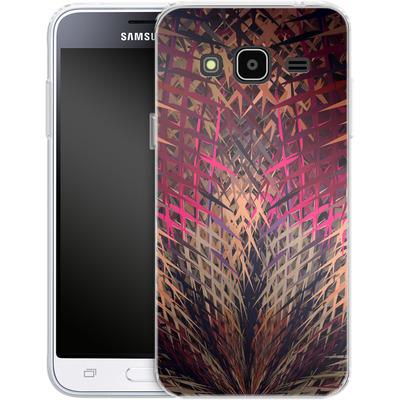 Samsung Galaxy J3 (2016) Silikon Handyhuelle - Grid Explosion von Danny Ivan