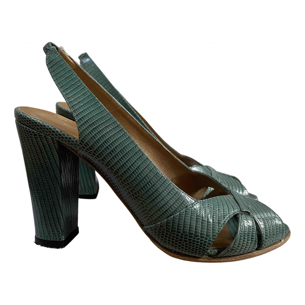 Dkny N Green Leather Heels for Women 38 EU