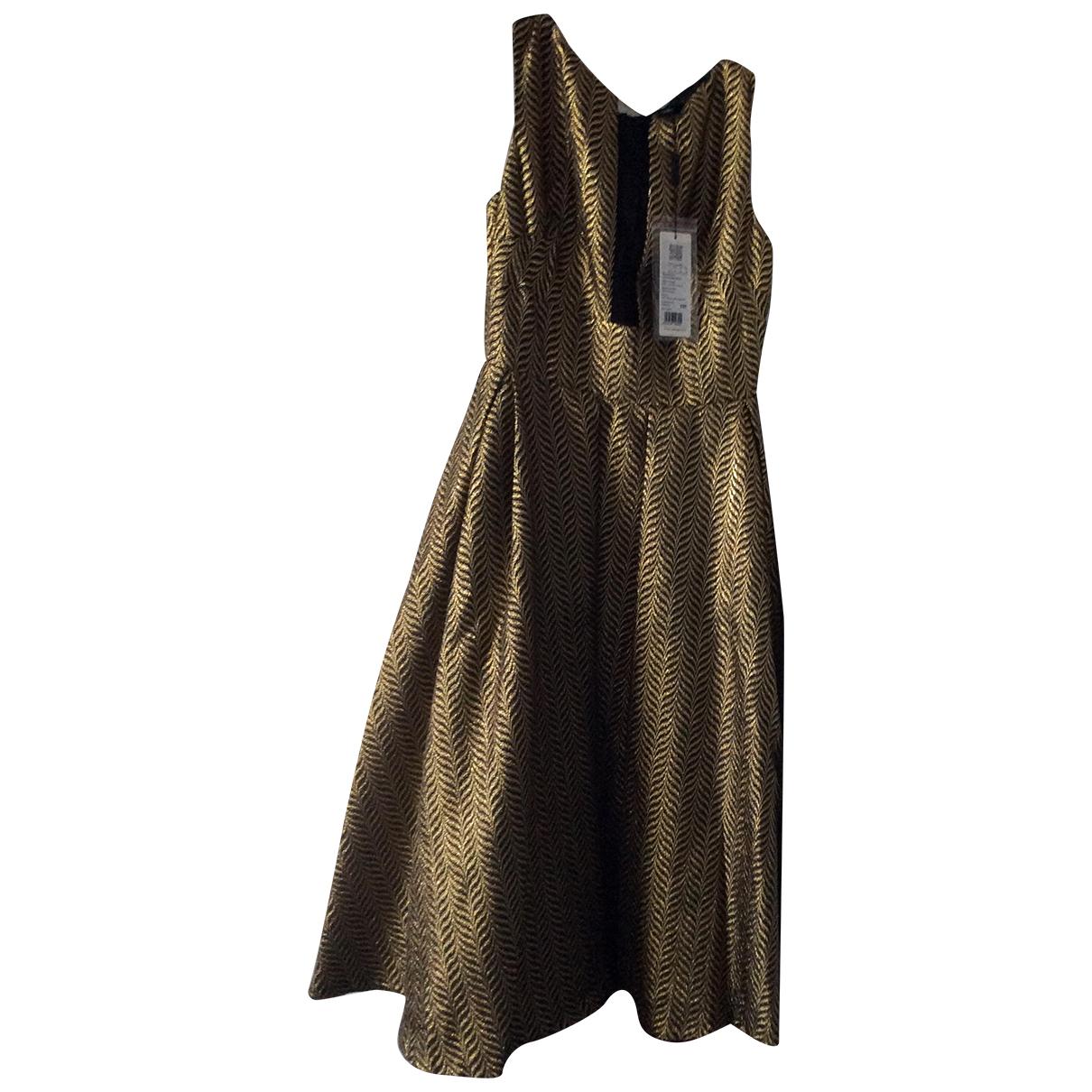 Carven \N Kleid in  Metallic Synthetik