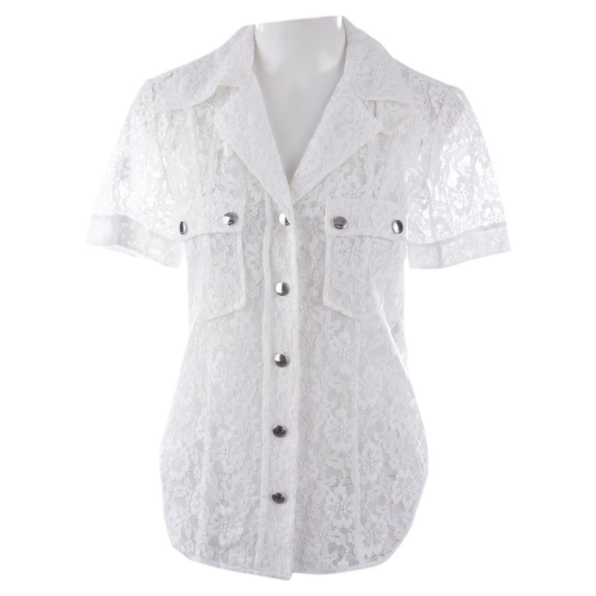 Chloe - Top   pour femme en coton - blanc
