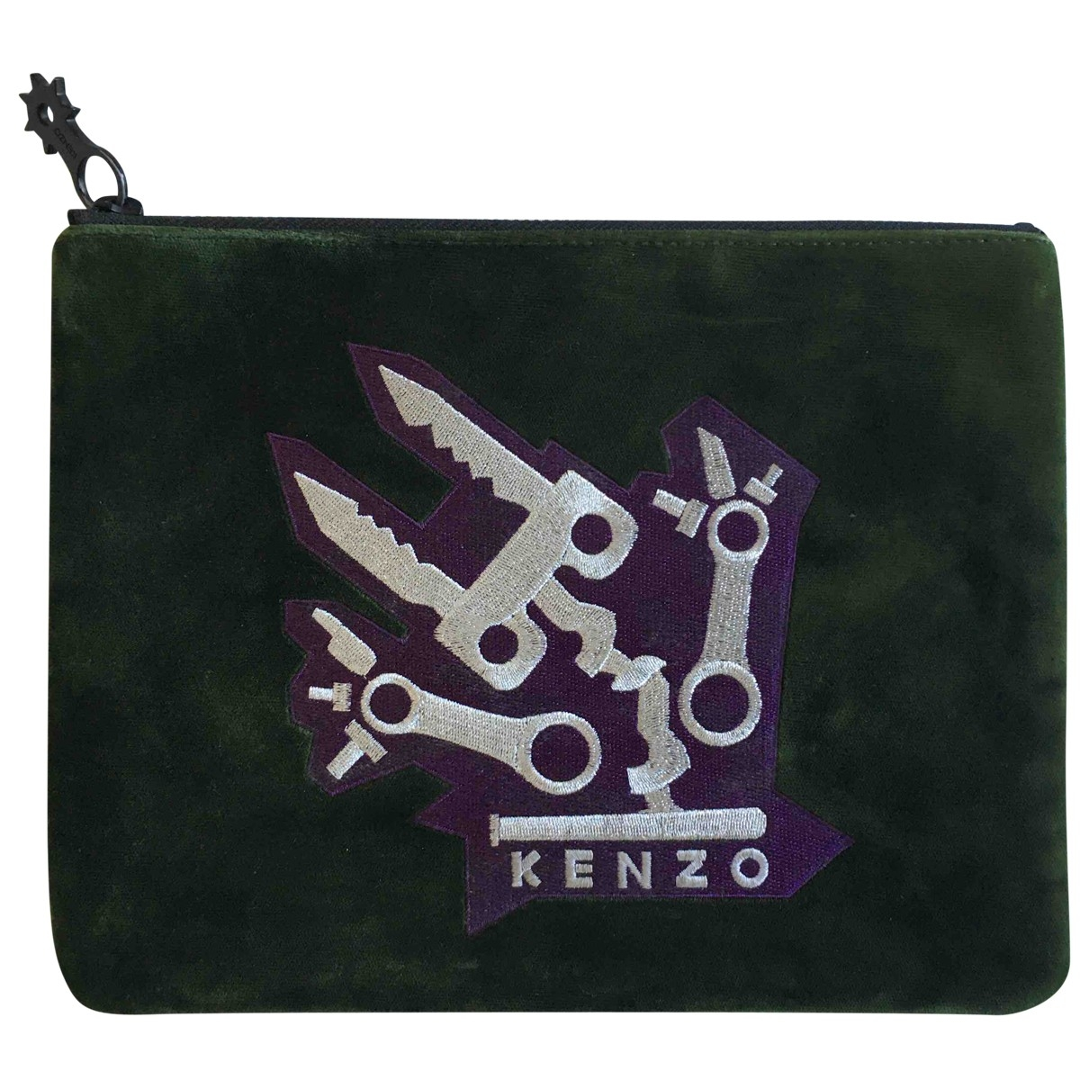 Kenzo \N Clutch in  Bunt Samt