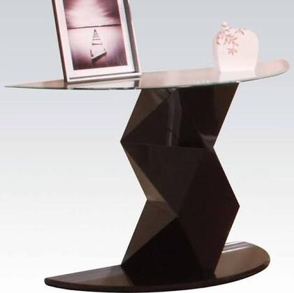 81371 Taksha Sofa Table with Glass Top in