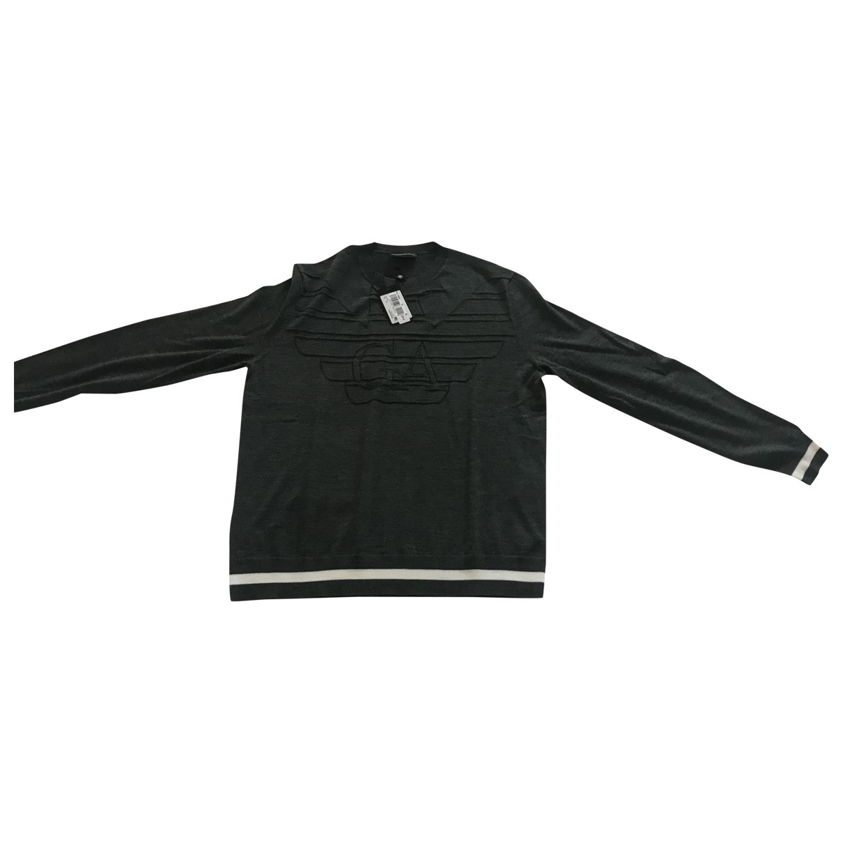 Emporio Armani \N Pullover.Westen.Sweatshirts  in  Gruen Wolle