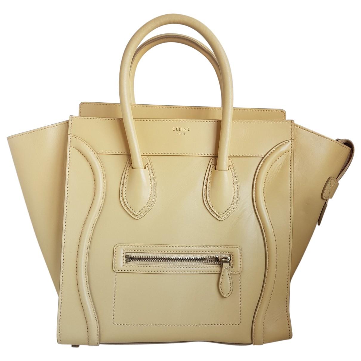 Celine Luggage Phantom Yellow Leather handbag for Women \N