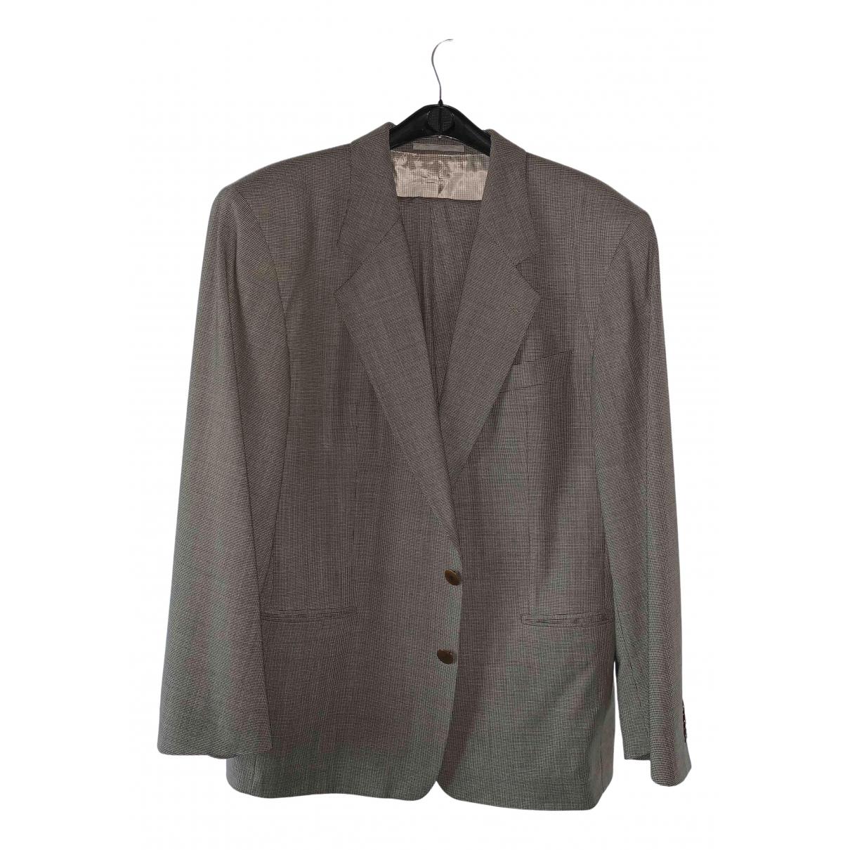Hugo Boss - Costumes   pour homme en laine - anthracite