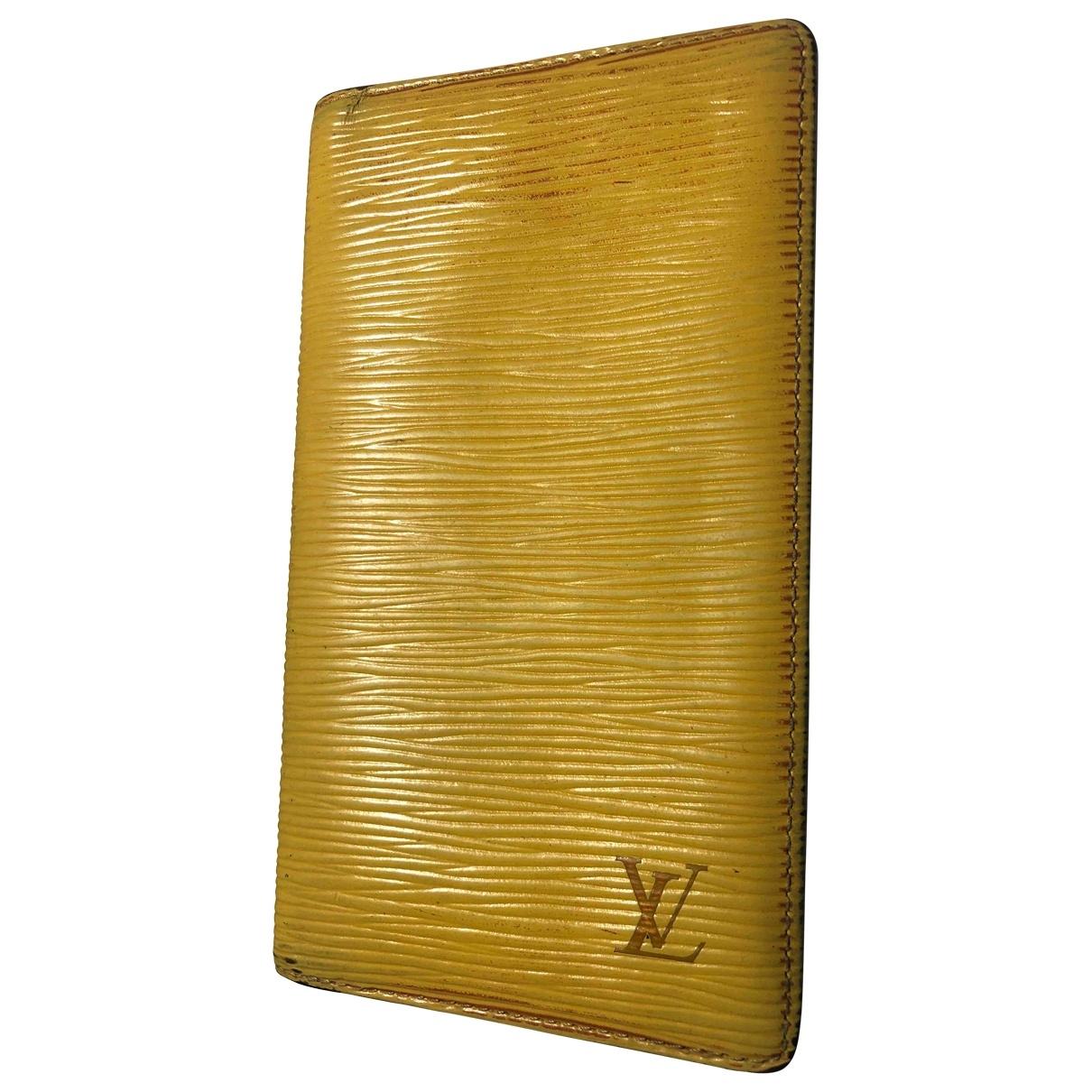 Louis Vuitton Couverture agenda de bureau Accessoires und Dekoration in  Gelb Leder