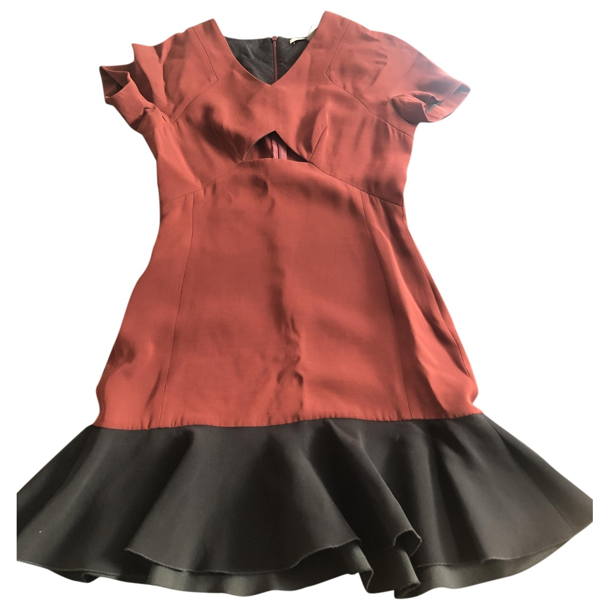 Victoria Beckham \N Burgundy Cotton dress for Women 10 UK