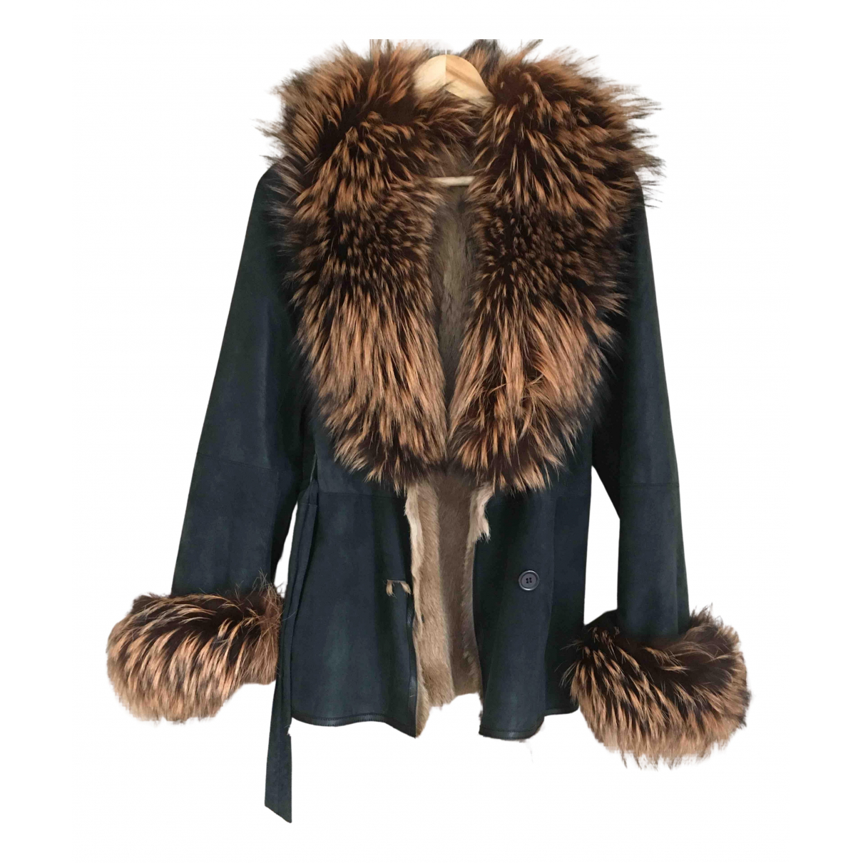 Georges Rech N Black Fox coat for Women 34 FR