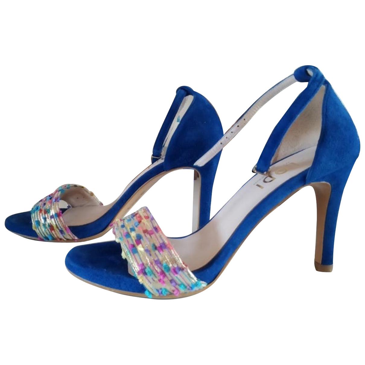 Non Signé / Unsigned N Blue Suede Sandals for Women 36 EU