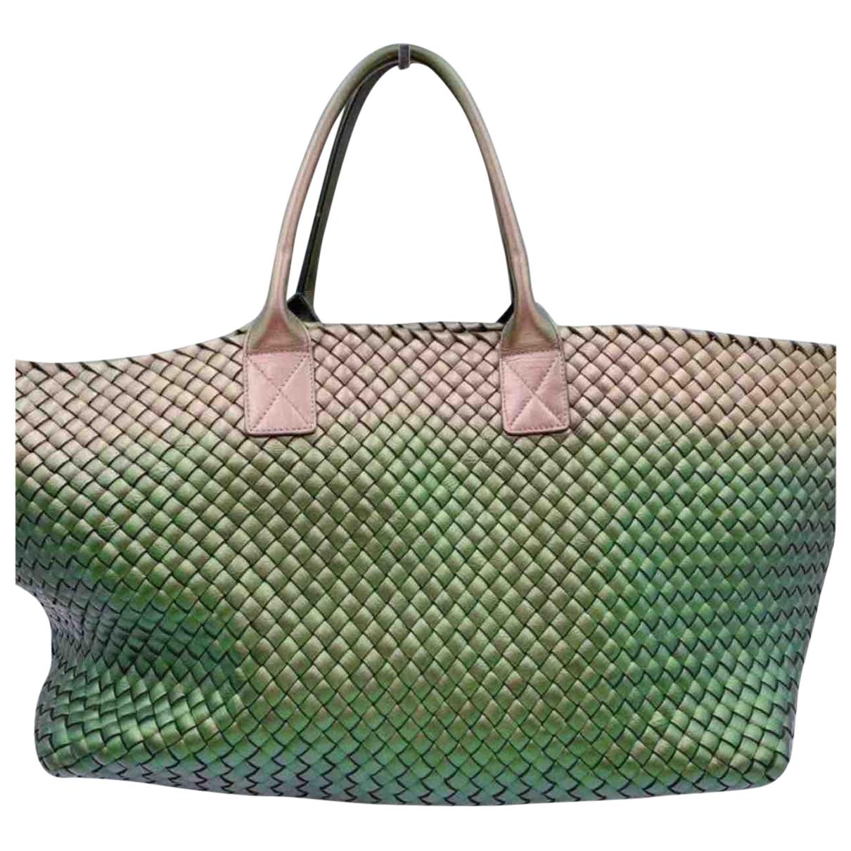 Bottega Veneta Cabat Handtasche in  Metallic Leder