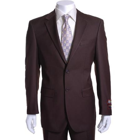 Mens Brown 2button Suit