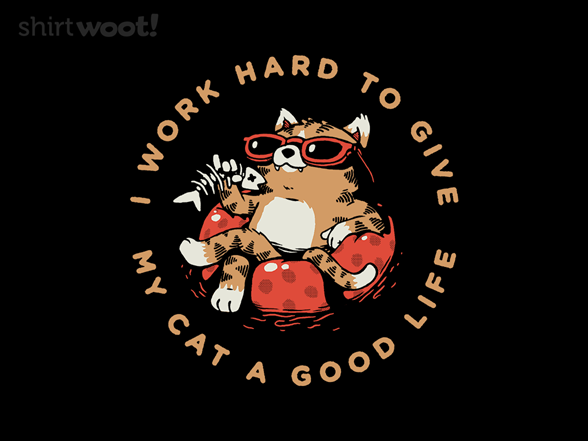 I Work Hard To Give My Cat A Good Life T Shirt