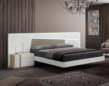 ANNABEDKS 132 King Sized Bed with Lighting Headboard  Intricate Details and Wood Construction in