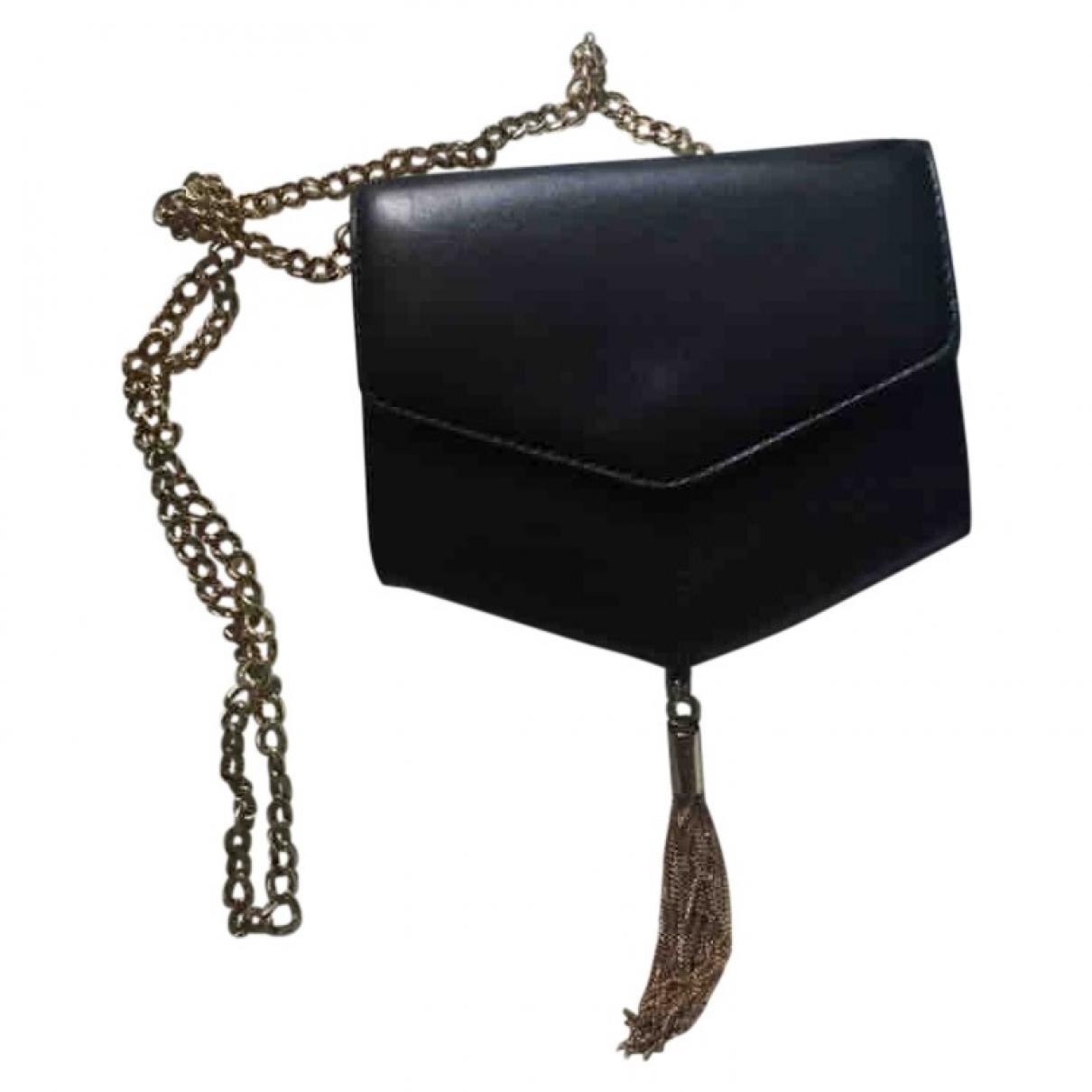 Sandro \N Handtasche in  Schwarz Leder