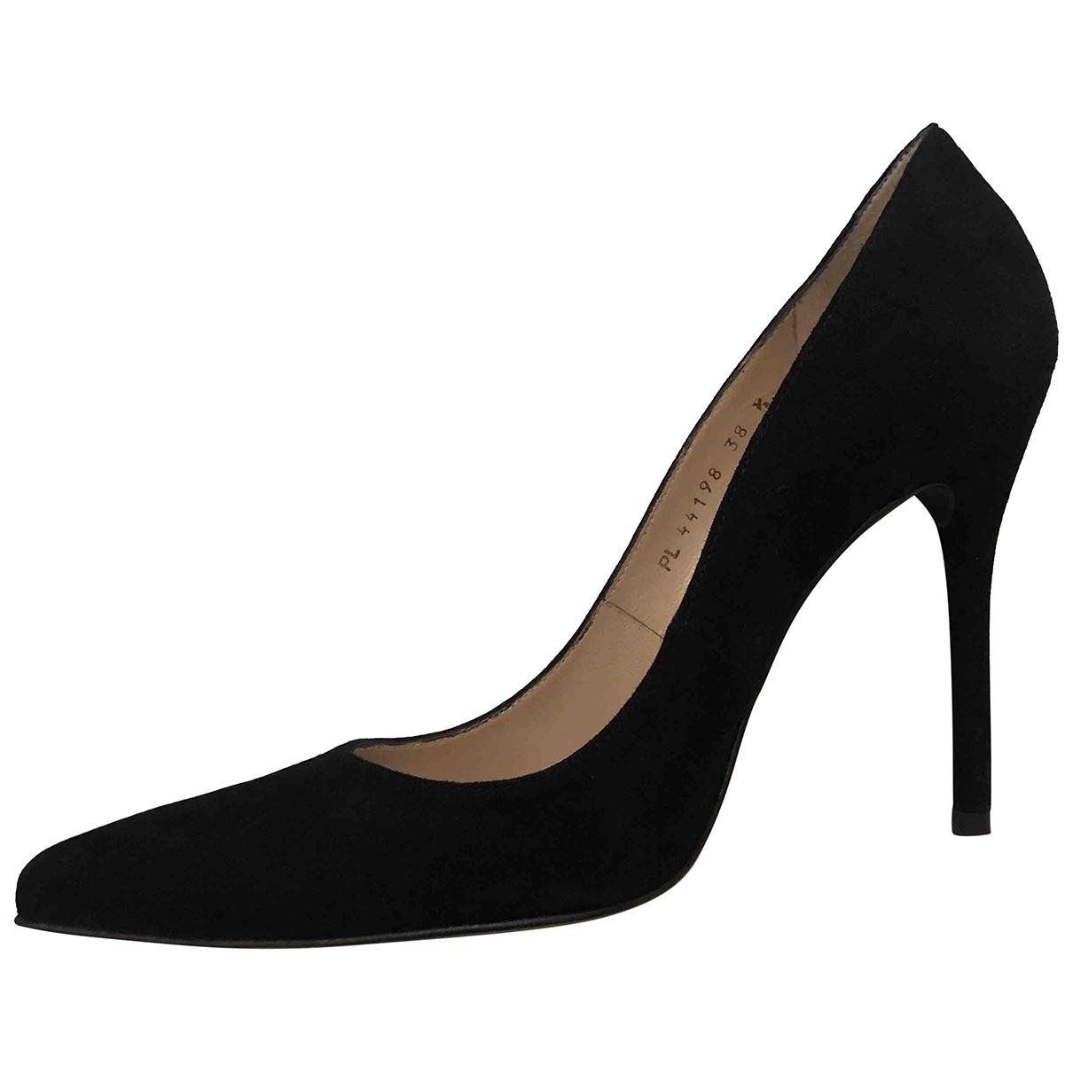 Stuart Weitzman \N Black Suede Heels for Women 38.5 EU