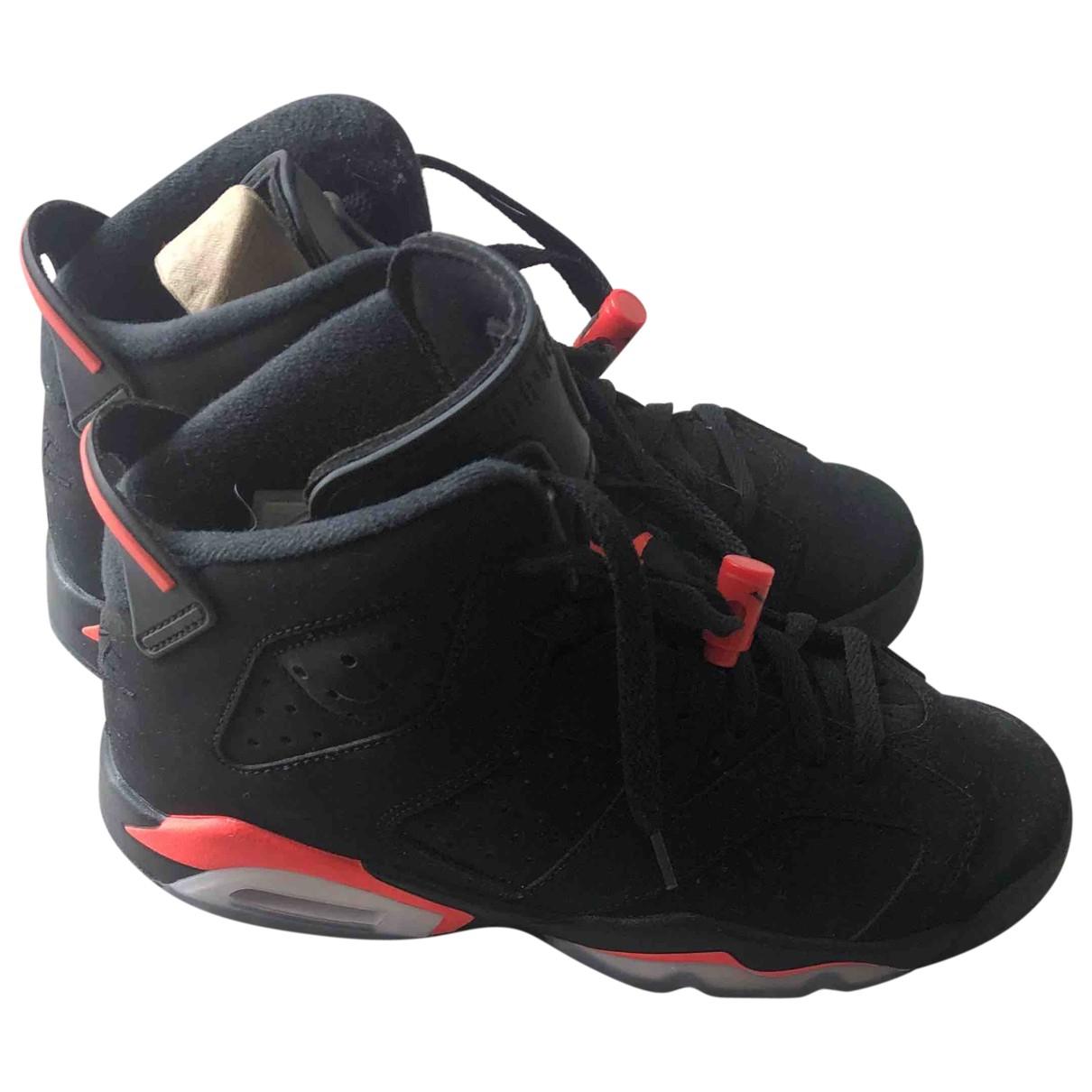 Jordan - Baskets Air Jordan 6  pour femme en suede - noir