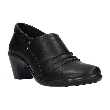 Easy Street Womens Toya Clogs Narrow Width, 5 1/2 Medium, Black