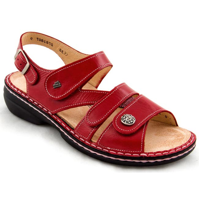 Finn Comfort Gomera Red Leather Soft Footbed 39