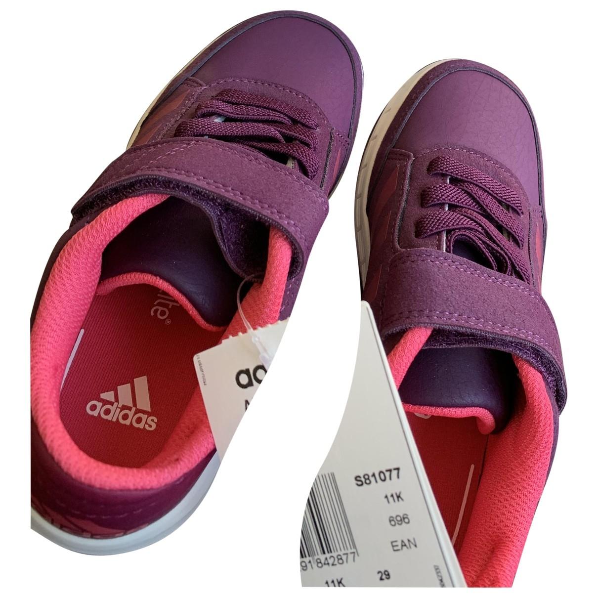 Adidas - Baskets   pour enfant en toile - bordeaux