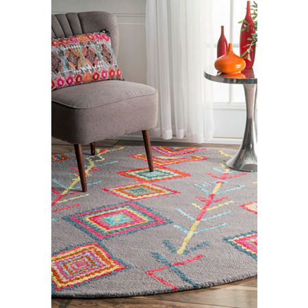 nuLoom Hand Tufted Belini Rug, One Size , Gray