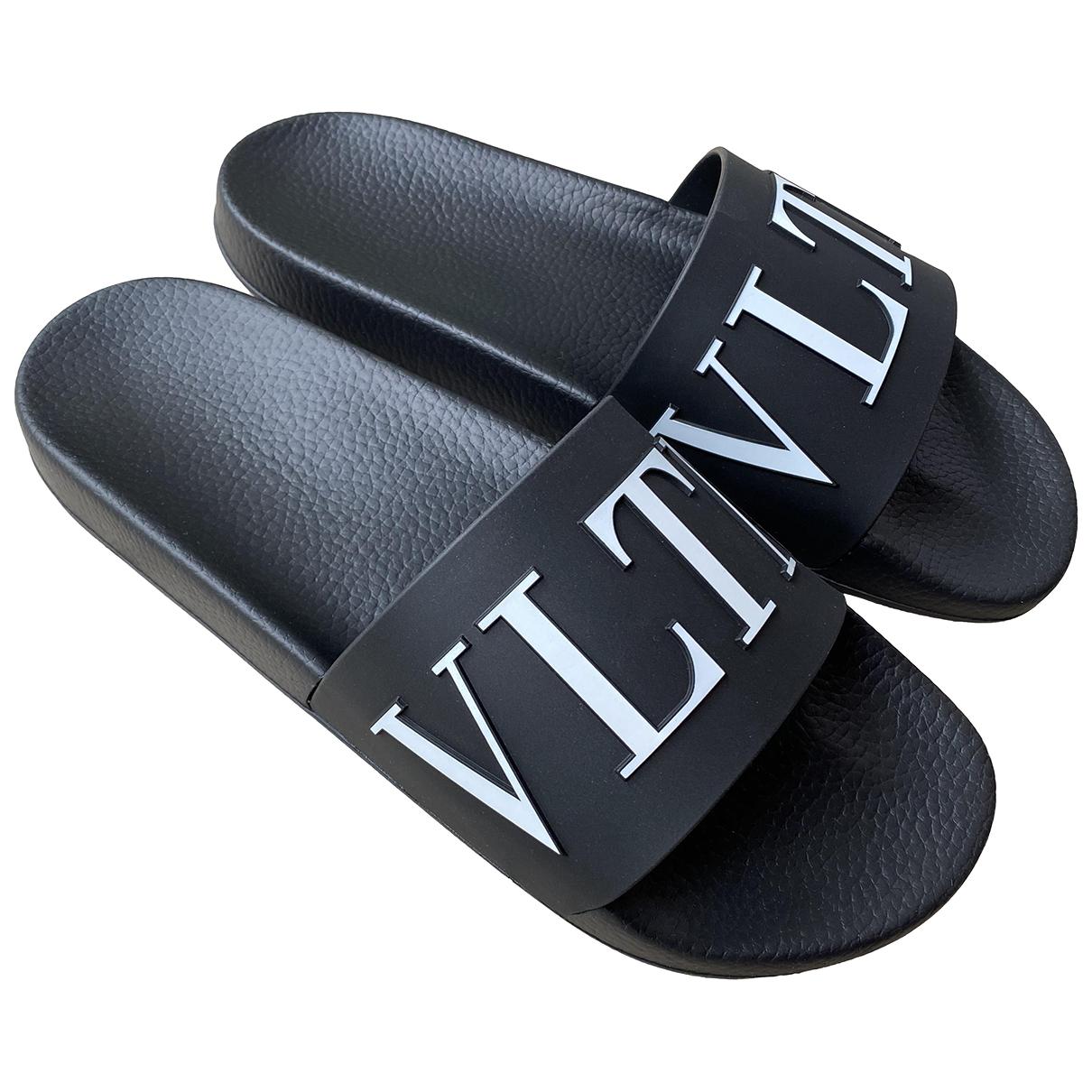 Valentino Garavani - Sandales   pour homme en caoutchouc - noir
