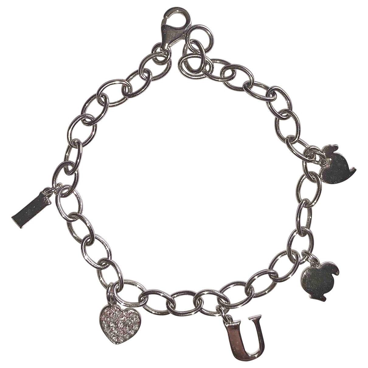 Non Signé / Unsigned Motifs Lettres White White gold bracelet for Women \N