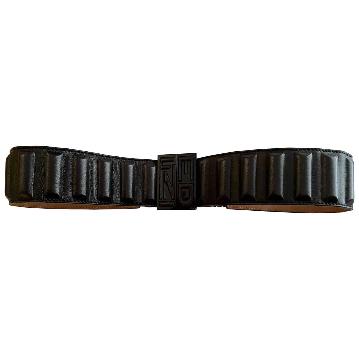 Fendi \N Black Leather belt for Women 85 cm