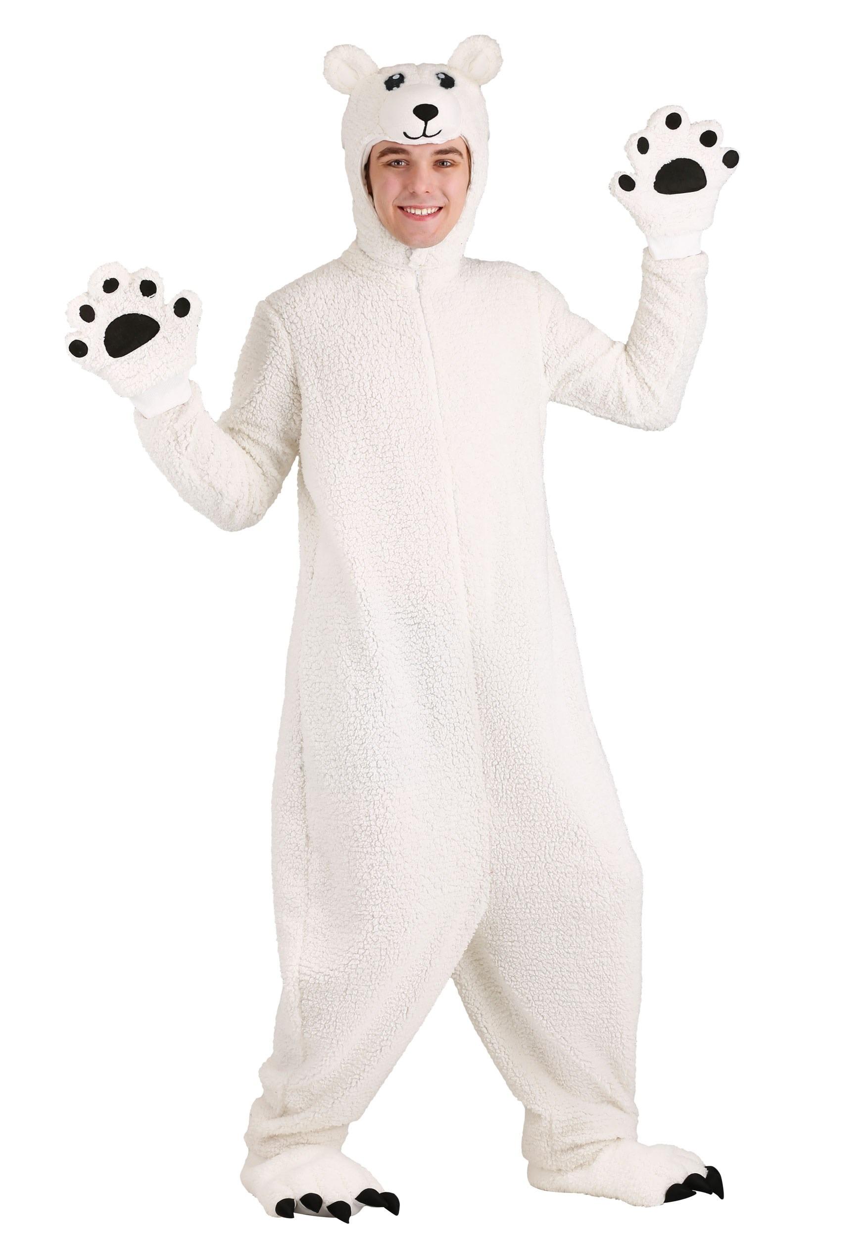 Arctic Polar Bear Costume for Adults