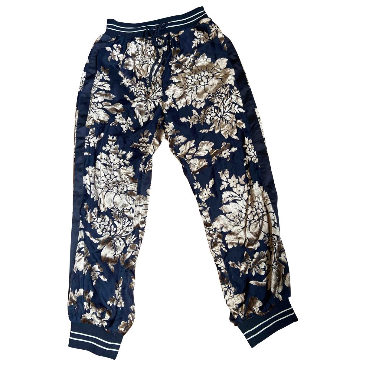 Twin Set \N Gold Trousers for Women 44 IT