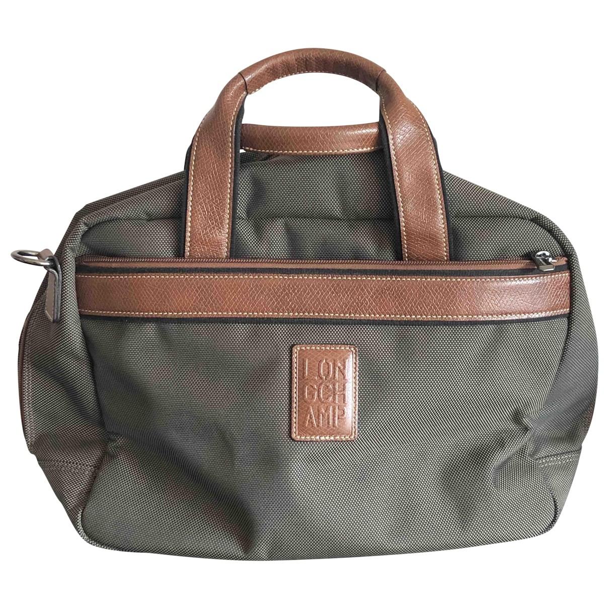 Longchamp - Sac de voyage   pour femme en toile - kaki