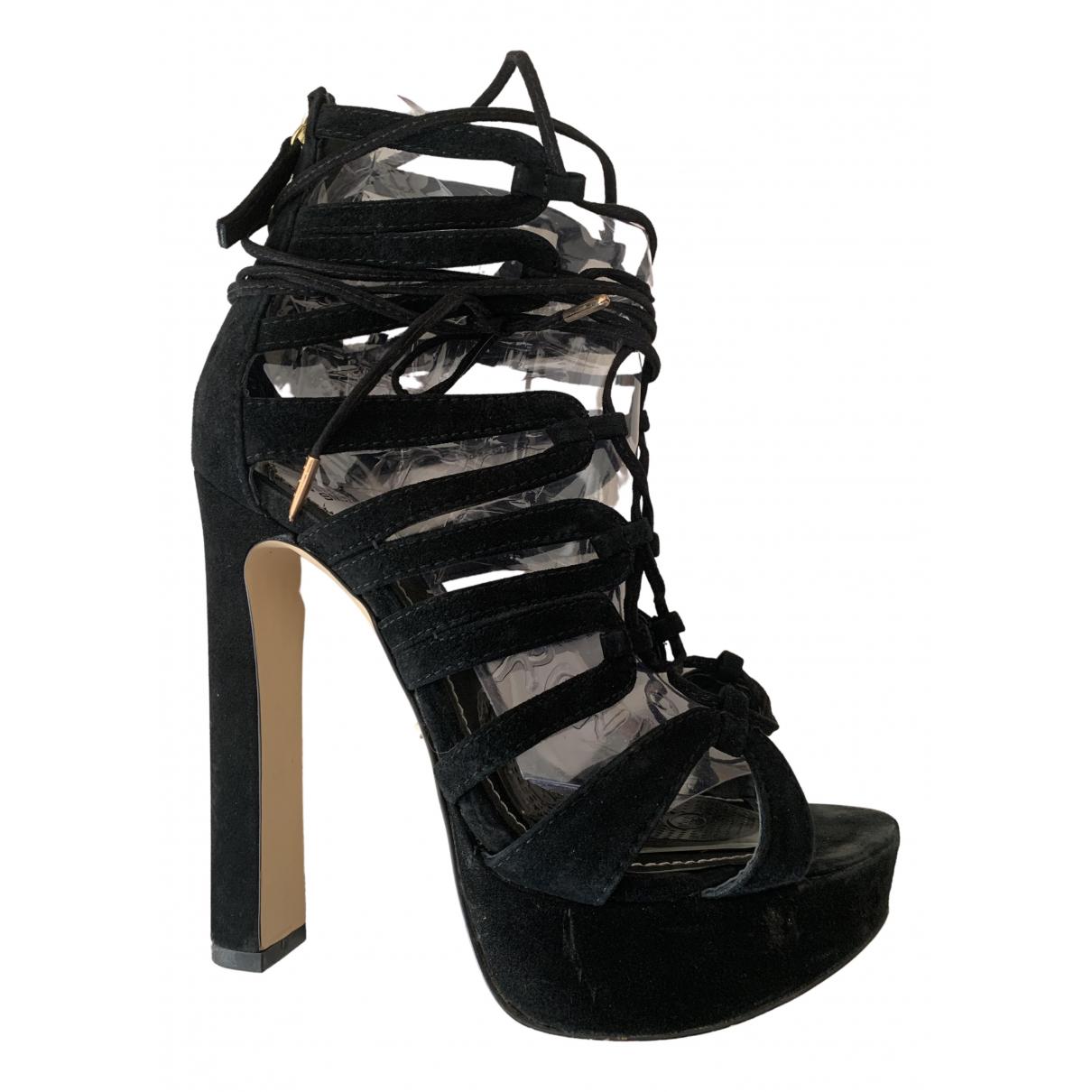 Windsor Smith N Black Suede Heels for Women 37 IT
