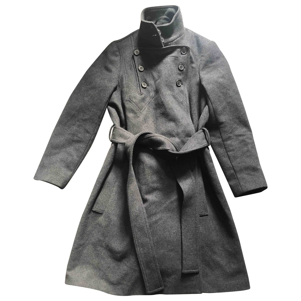 All Saints \N Anthracite Wool coat for Women 6 UK