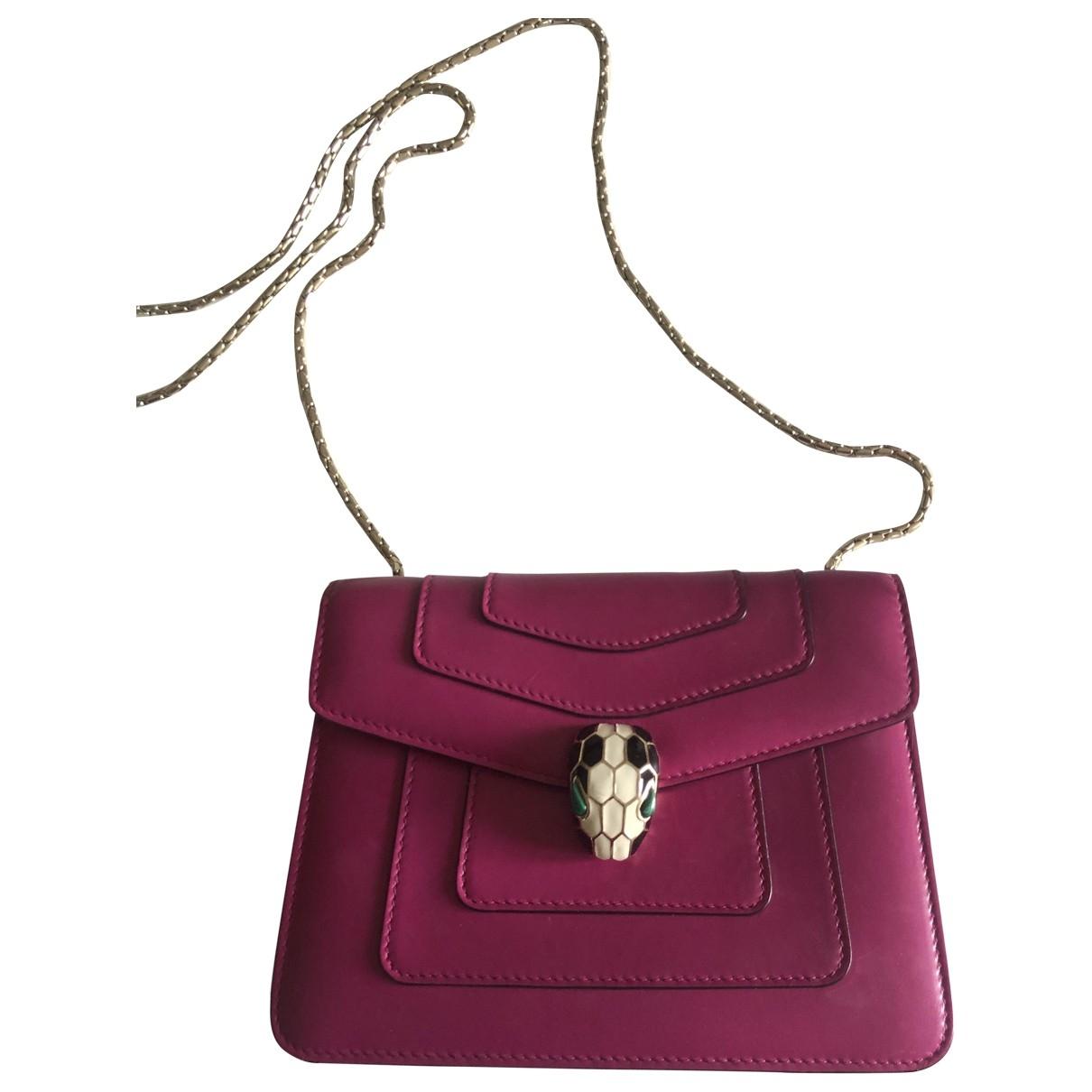 Bvlgari Serpenti Handtasche in  Rosa Leder