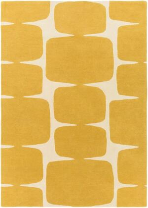 SCI36-58 5' x 8' Rug  in Mustard and