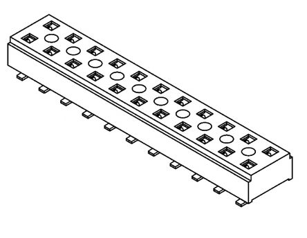 Samtec , CLT 2mm Pitch 10 Way 2 Row Straight PCB Socket, Surface Mount, Solder Termination