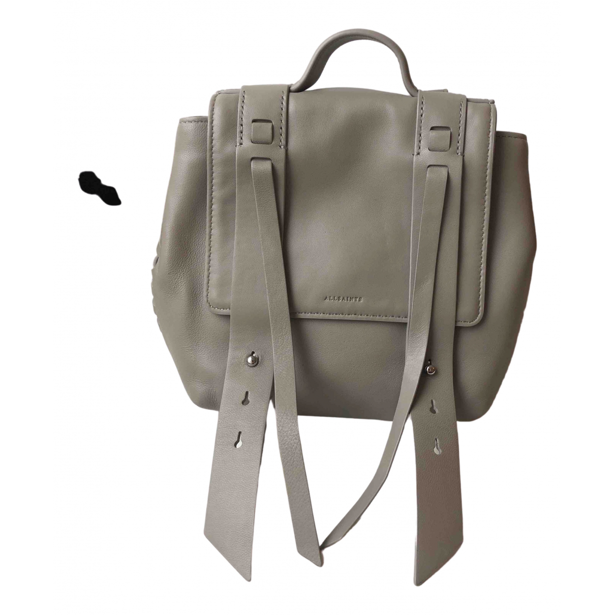 All Saints N Grey Leather backpack for Women N