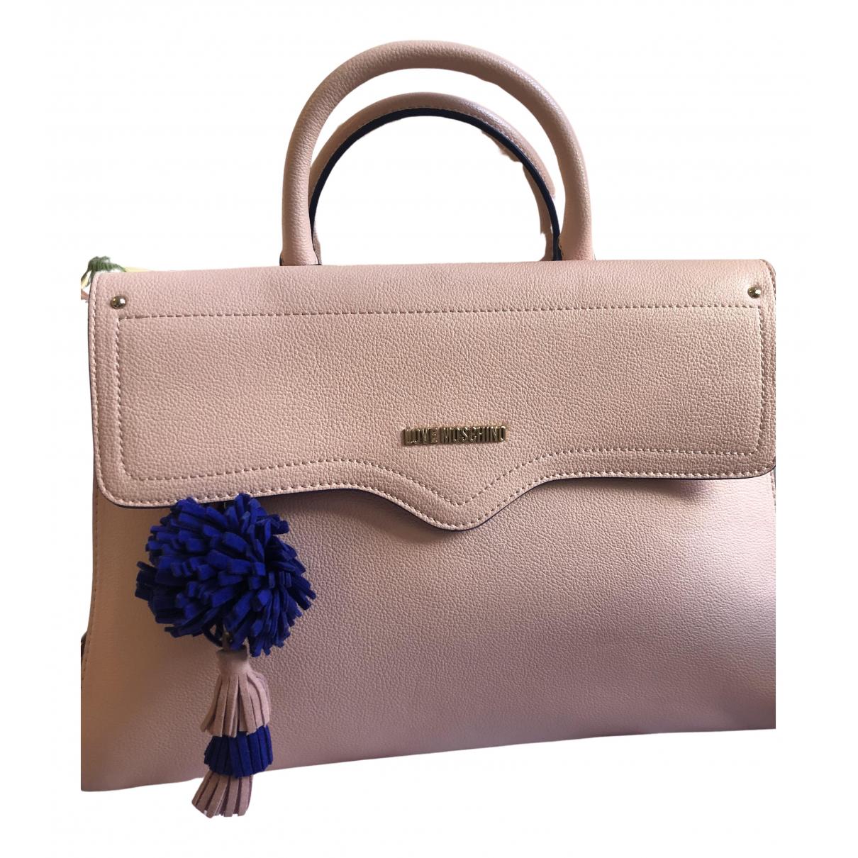 Moschino Love \N Handtasche in  Rosa Synthetik