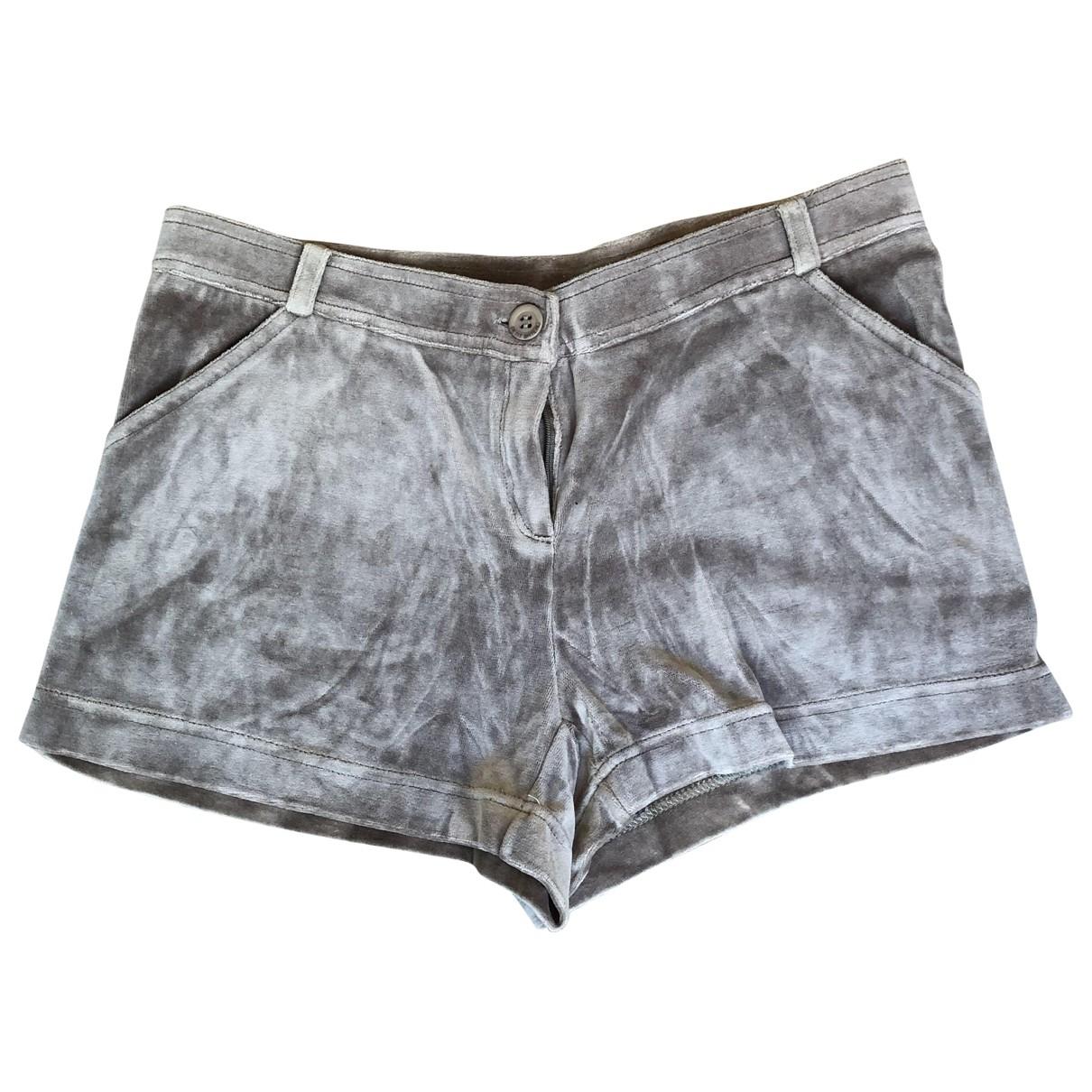 Petit Bateau \N Khaki Velvet Shorts for Kids 16 years - M FR