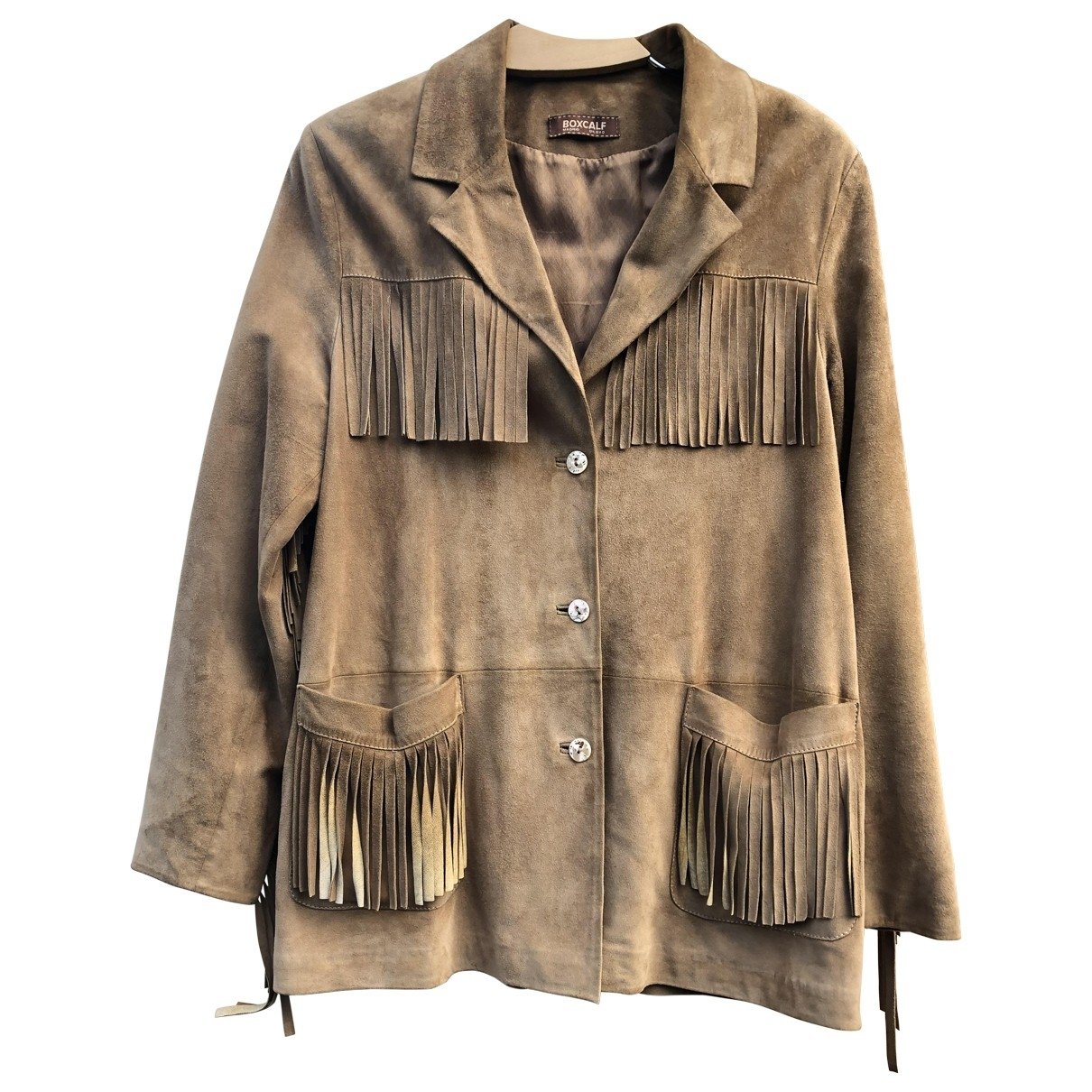 Non Signé / Unsigned \N Camel Shearling jacket for Women M International