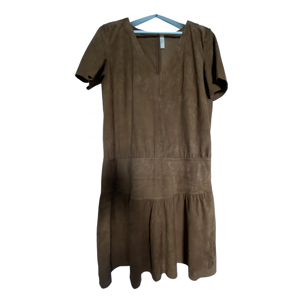 Ba&sh \N Kleid in  Beige Leder