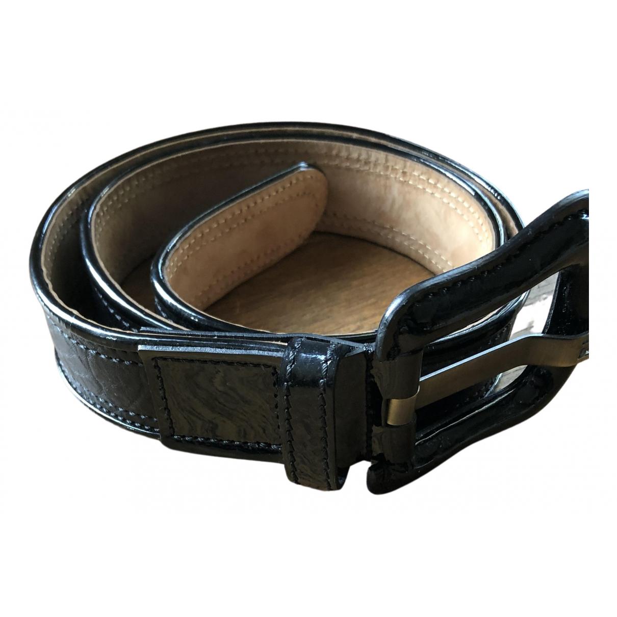 Fendi N Black Leather belt for Women 90 cm