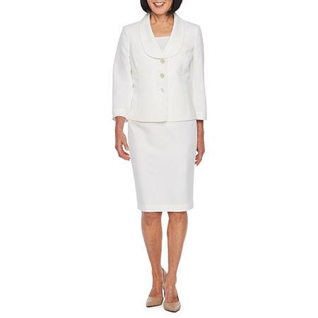 Le Suit Skirt Suit, 14 , White