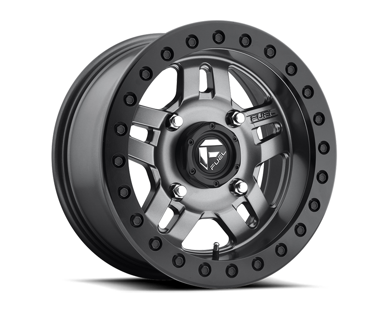 Fuel Matte Anthracite with Black Ring Anza UTV Beadlock D918 Wheel 14x7 4x136 13mm