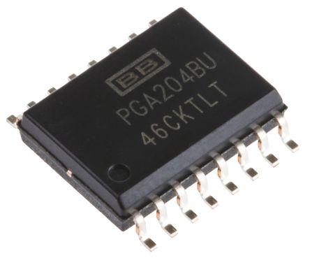 Texas Instruments PGA204BU , Instrumentation Amplifier, 50μV Offset, 16-Pin SOIC