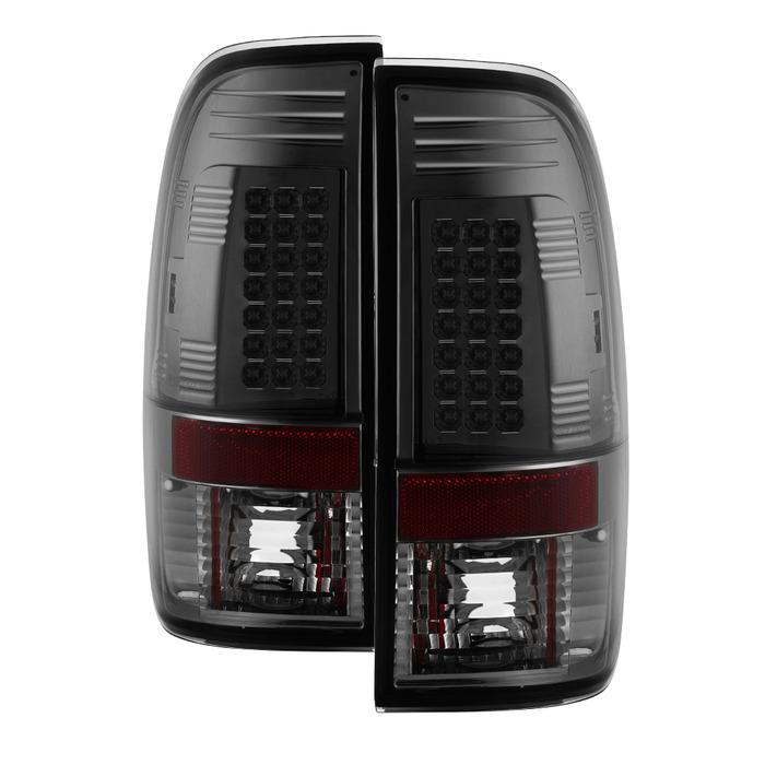 Spyder Auto ALT-YD-FF15097-LED-SM Smoke LED Taillights F-250 Super Duty 99-07