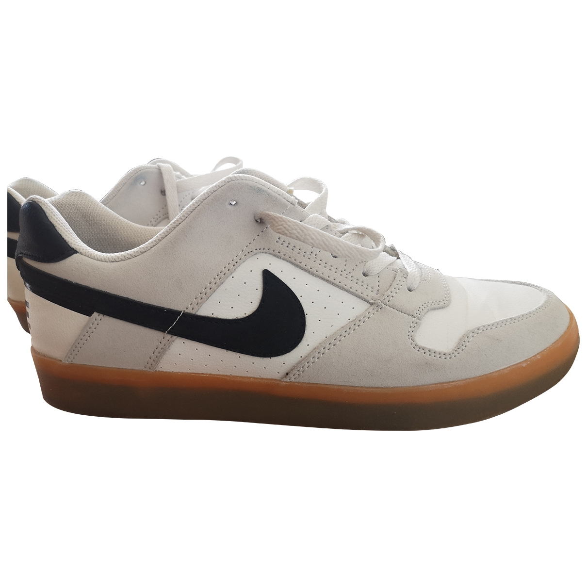 Nike \N White Leather Trainers for Men 43.5 EU