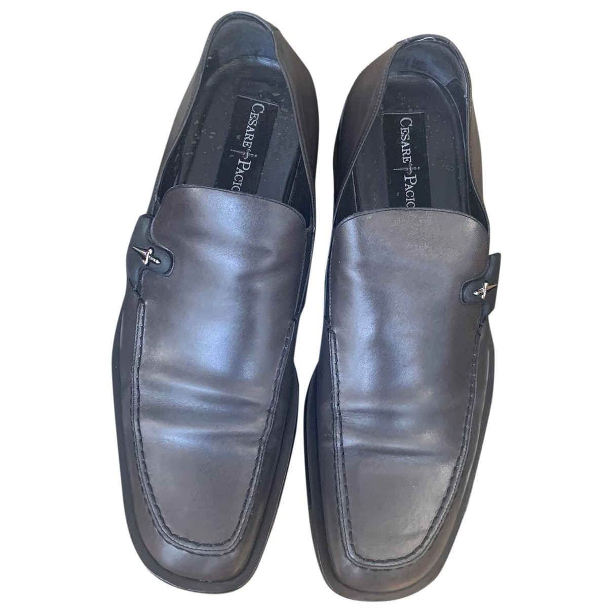Cesare Paciotti \N Grey Leather Flats for Men 8.5 UK