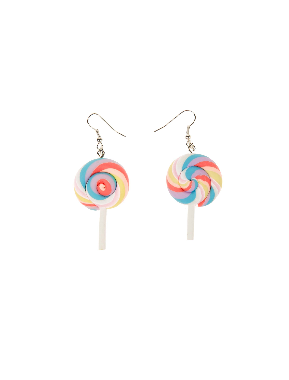 Kostuemzubehor Ohrringe Candy Lolli bunt Farbe: multicolor bzw. bunt
