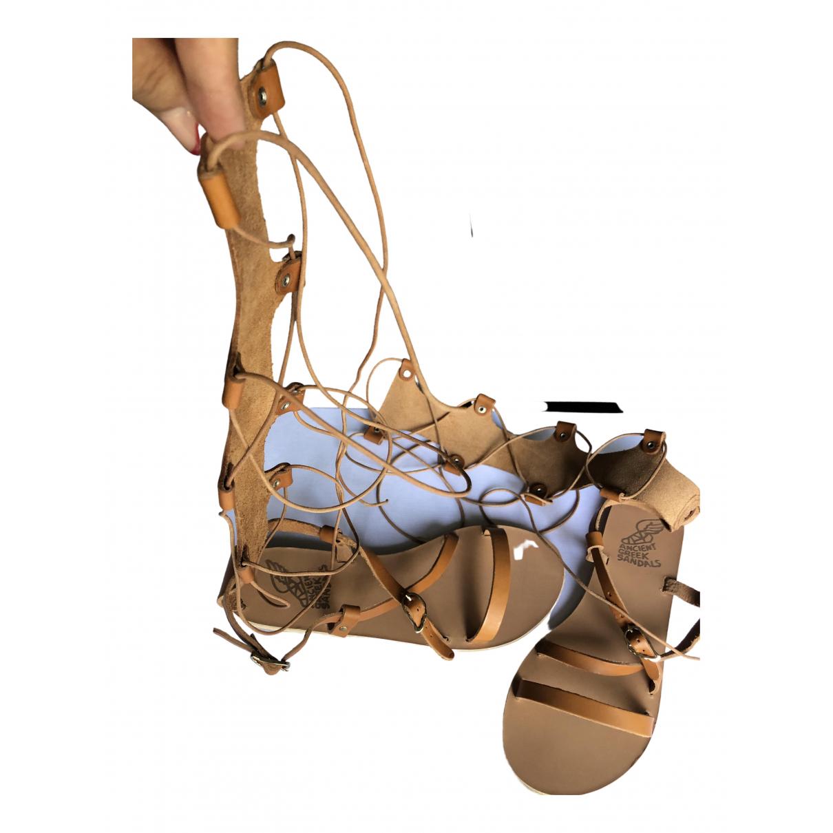 Ancient Greek Sandals - Sandales   pour femme en cuir - camel