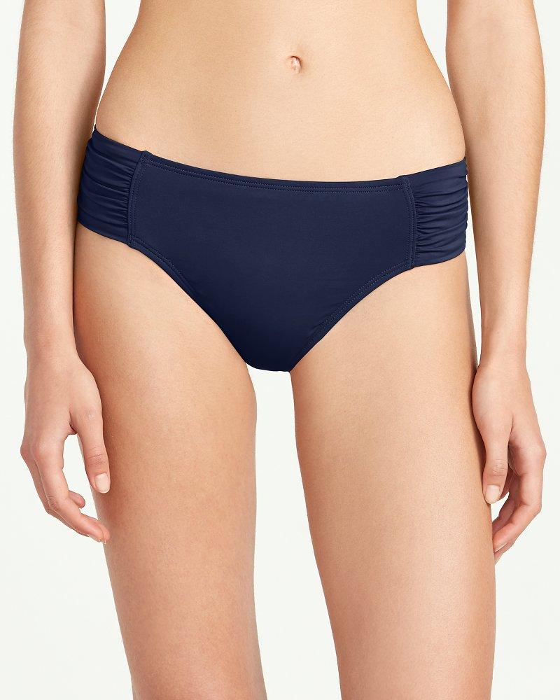Pearl High-Waist Side-Shirred Bikini Bottoms